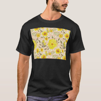 Country Yellow Flowers on a Trellis T-Shirt