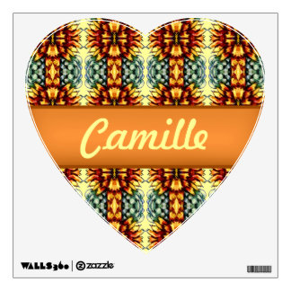 country yellow orange sunflower sun heart decal