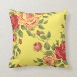 Country Yellow Rose Sofa Pillow