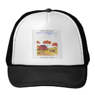 CountryClothesline Original Watercolor Painting Trucker Hat