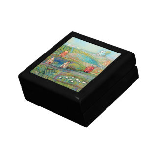 Countryl Scene and Sheep Keepsake Box