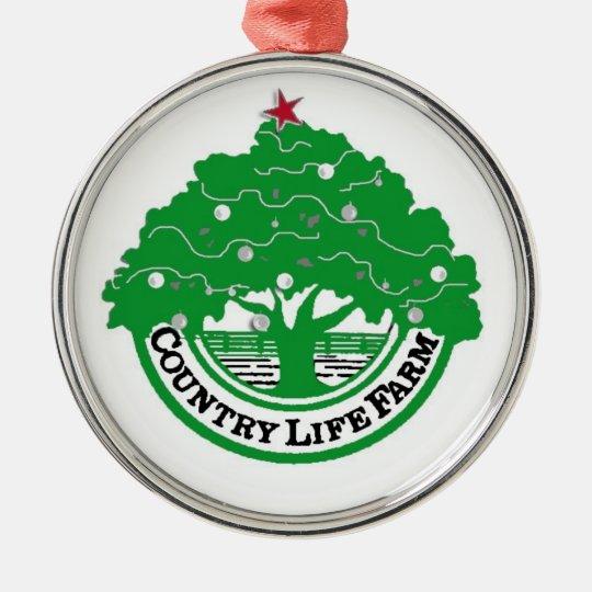 CountryLifeFarm xmas tree Metal Ornament