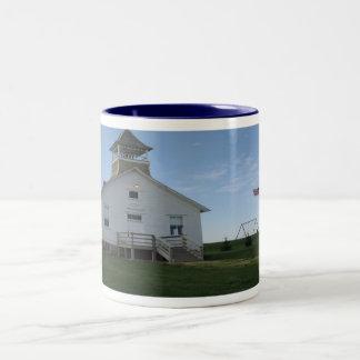 countryschoolmug Two-Tone coffee mug