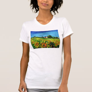 COUNTRYSIDE AND SUNFLOWERS IN TUSCANY TEES