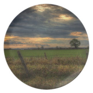 Countryside at Dusk Plate