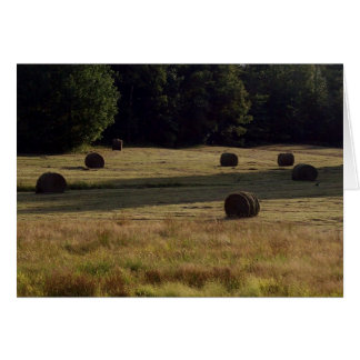 Countryside Bails of Hay Card