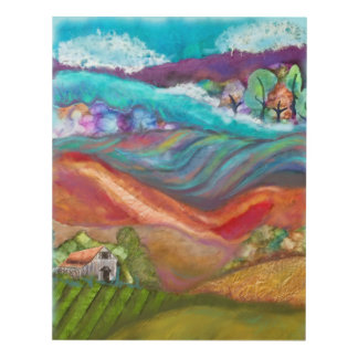 Countryside Collage Artwork Panel Wall Art