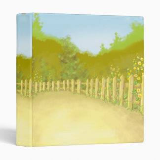 countryside fence landscape scene binder