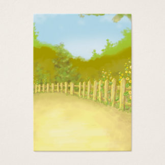 countryside fence landscape scene business card