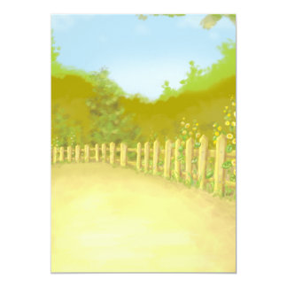 countryside fence landscape scene custom announcements