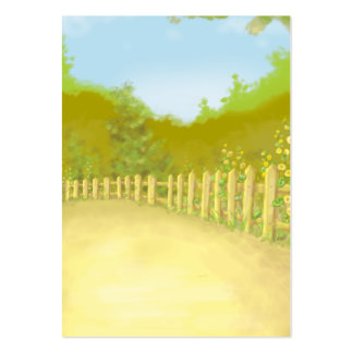 countryside fence landscape scene large business card