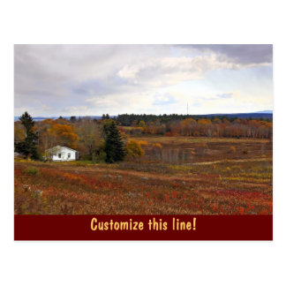 Countryside Landscape Postcard