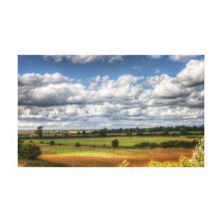 Countryside Landscape Vista Canvas Print