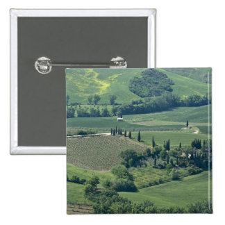 Countryside near Montepulciano, Val d'Orcia, 2 Inch Square Button