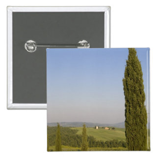 Countryside near Pienza. Val d'Orcia, Siena Buttons