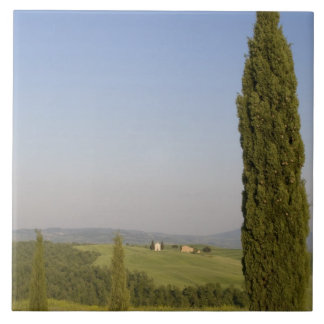 Countryside near Pienza. Val d'Orcia, Siena Ceramic Tile