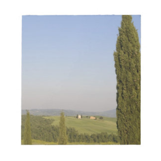 Countryside near Pienza. Val d'Orcia, Siena Notepad