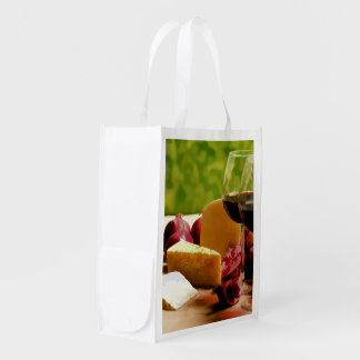 Countryside Picnic Wine Cheese & Fruit Grocery Bag