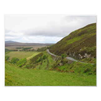 Countryside road bends around hill in Ireland Photo Print