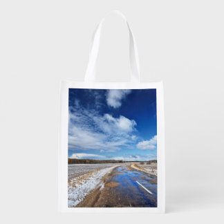 Countryside Road Reusable Grocery Bag