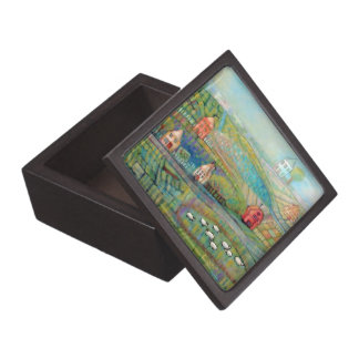 Countryside & Sheep Jewelry Box