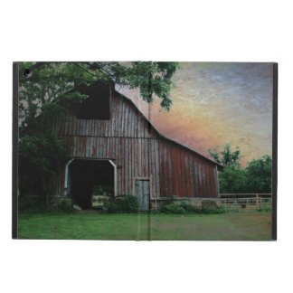 countryside sunset farm landscape old red barn cover for iPad air