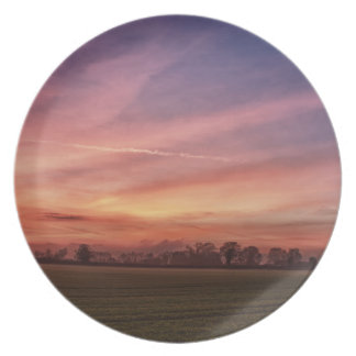 Countryside Sunset Skies Plate