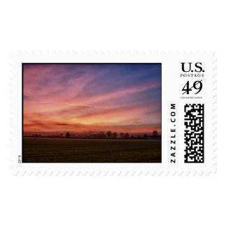 Countryside Sunset Skies Postage stamps