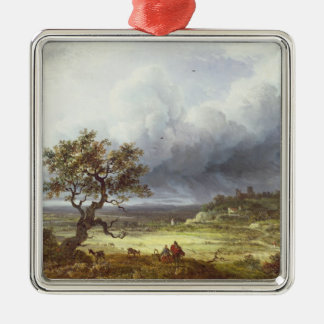 Countryside under a Stormy Sky Metal Ornament