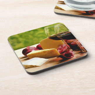 Countryside Wine, Cheese & Fruit Beverage Coaster