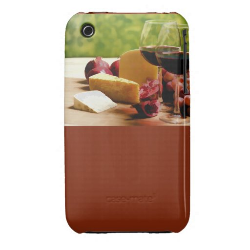 Countryside Wine, Cheese & Fruit iPhone 3 Cover