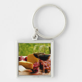 Countryside Wine, Cheese & Fruit Key Chains
