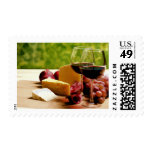 Countryside Wine, Cheese & Fruit Postage Stamps