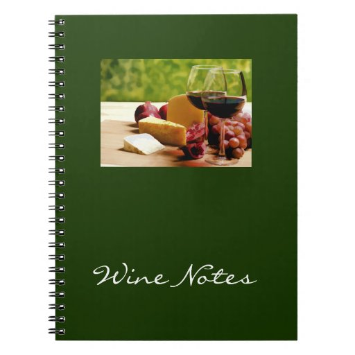 Countryside Wine, Cheese & Fruit Spiral Notebook