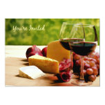 Countryside Wine, Cheese & Fruit You're Invited Custom Invitations