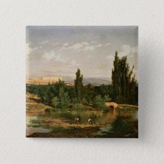 Countryside with a River, Manzanares Button