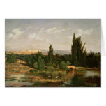 Countryside with a River, Manzanares Greeting Cards
