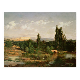 Countryside with a River, Manzanares Postcard
