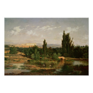 Countryside with a River, Manzanares Poster