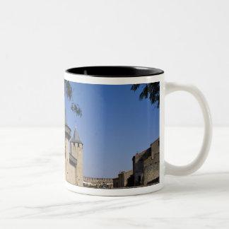 Counts Castle, Carcassonne, Aude, Languedoc, Two-Tone Coffee Mug