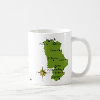 County Antrim Map & Crest Mugs