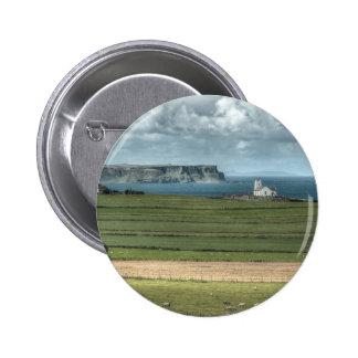 County Antrim's Coastal Causeway, Northern Ireland Pinback Button