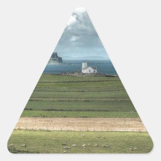 County Antrim's Coastal Causeway, Northern Ireland Triangle Sticker