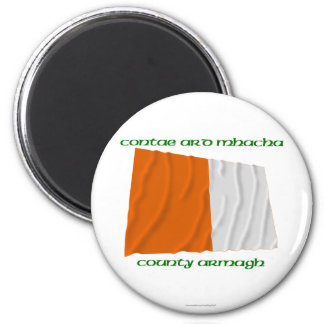 County Armagh Colours 2 Inch Round Magnet