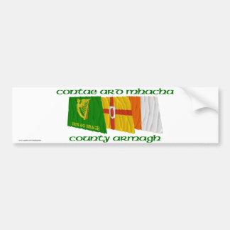County Armagh Flags Car Bumper Sticker