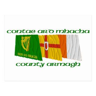 County Armagh Flags Postcard