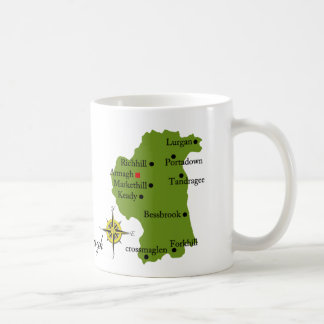 County Armagh Map & Crest Mugs