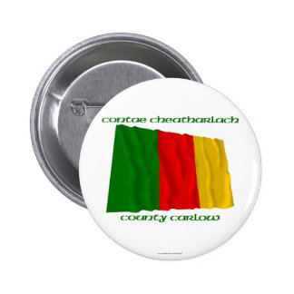 County Carlow Colours Pinback Buttons