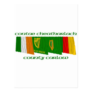 County Carlow Flags Postcard