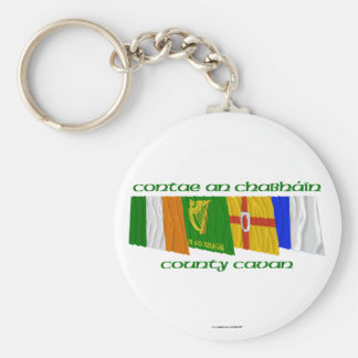 County Cavan Flags Basic Round Button Keychain